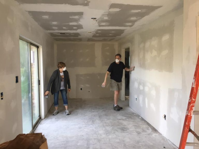 Checking the new sheetrock