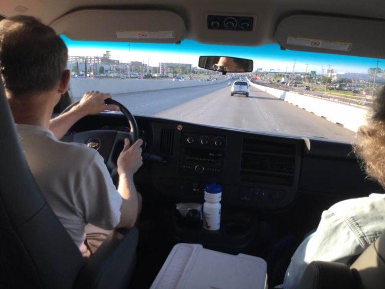 In the van2
