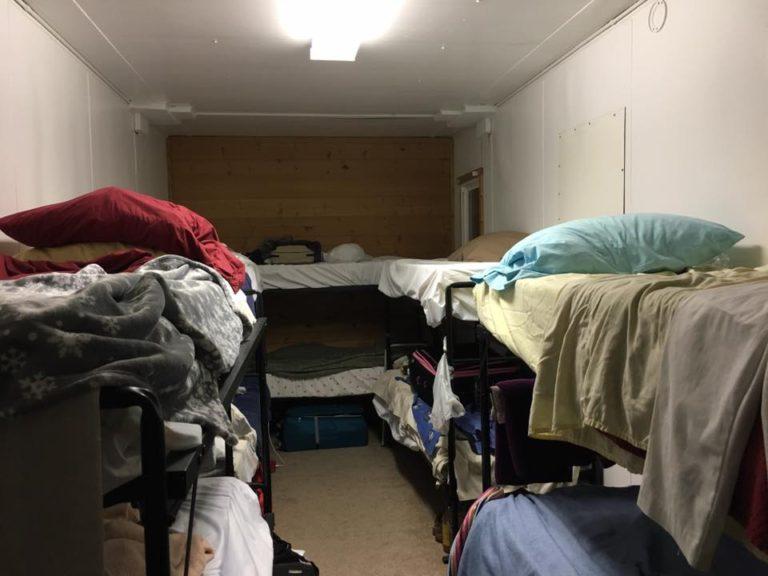 Inside a dorm
