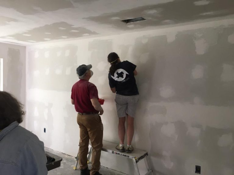 Mudding the sheetrock